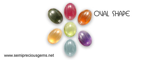 oval shape cabs in gemstones