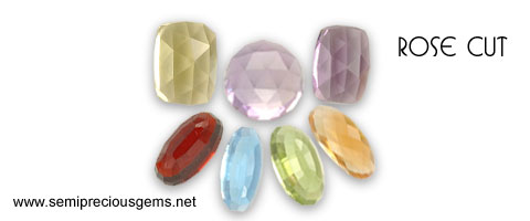rose cut gemstones